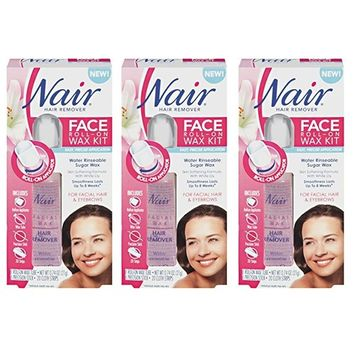 Nair Face Roll-On Hair Remover Wax Kit, 0.7 OZ (Pack of 3) + LA Cross Blemish Remover 74851