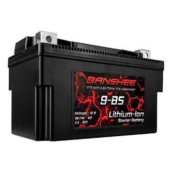 9BS Lithium Ion Sealed Battery Replaces YTX9-BS 12V 150 CA Motorcycle Scooter