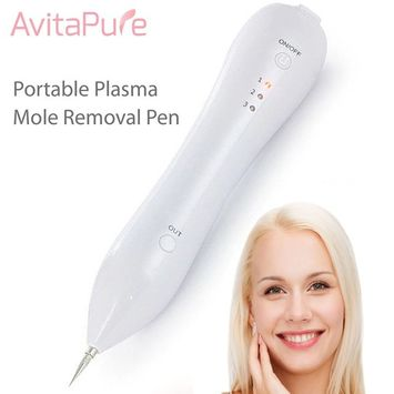 AvitaPure Mole Remover-USB Charging Dot Mole Removal Pen Set-Safe Portable Spot Eraser Tool Kit for Face Dark Freckle Age Spot Small Tattoo Pigmentation Nevus Skin Tag Pigmentation [White]