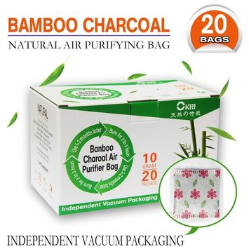 Eco-Friendly Natural Bamboo Deodoizer,20 pack