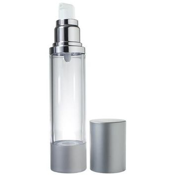 Airless Pump Bottle Silver Matte - 1.7 oz