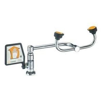 Guardian G1806LH Brass Eyewash, Deck Mounted, 90 Degree Swivel, Left Hand Mounting