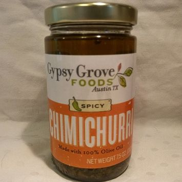 Natural Chimichurri Steak Sauce, Grilling Sauce, Marinade, Pasta Dressing and Sandwich Spread by Gypsy Grove Foods - Spicy