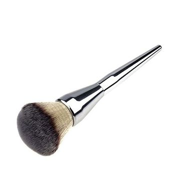 Make Up Brushes,Foundation Kabuki Flat Top - Perfect For Blending Liquid, Cream or Flawless Powder Cosmetics (Silver)