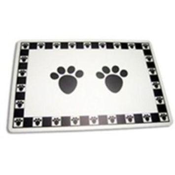 Black Pet Paws Placemat