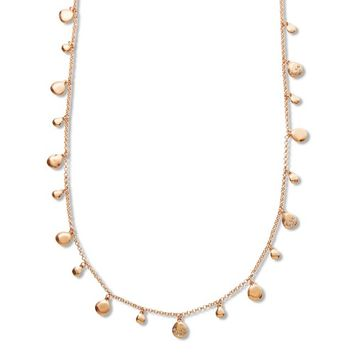 Attention Women's Goldtone Disc Necklace