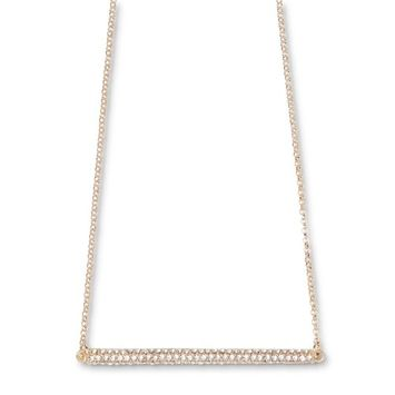 Attention Women's Goldtone Jeweled Bar Necklace