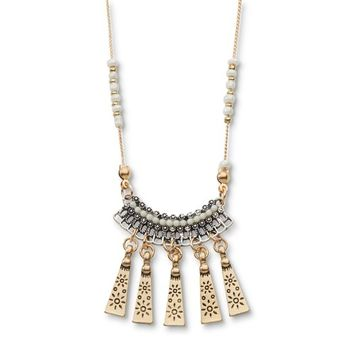 Attention Women's Goldtone Bead Necklace