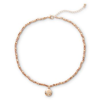 Attention Women's Copper Tone Beaded Necklace