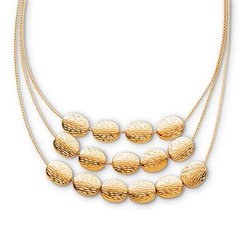 Attention Women's Goldtone Three-Strand Layered Necklace
