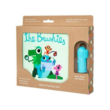 The Brushies - Baby and Toddler Toothbrush and Storybook - Willa The Whale!