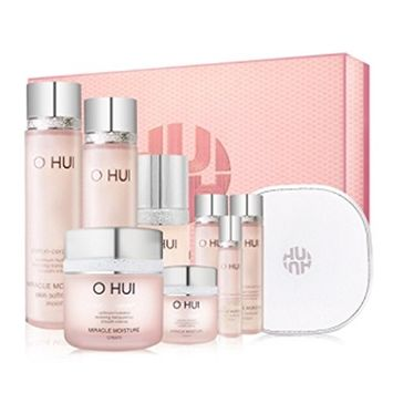 OHUI Miracle Moisture Special Set (Total 9 Items) + Including Moisture Mask Sheet