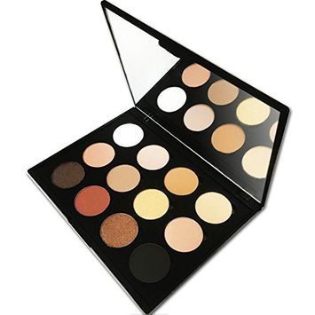 12 Color Makeup Eyeshadow Palette, Nude Natural Colors by Beauty Bon