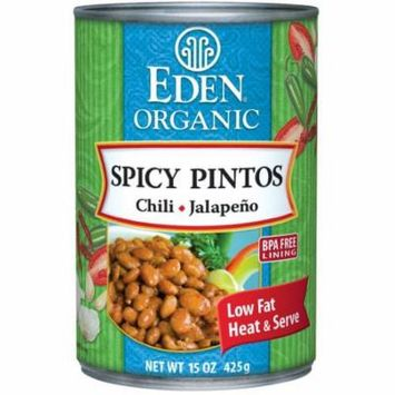 Eden Spicy Pinto Beans, Organic, 15 Ounce (Pack of 6)