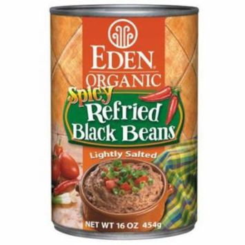 Eden Spicy Refried Black Beans, Organic, 16 Ounce (Pack of 6)