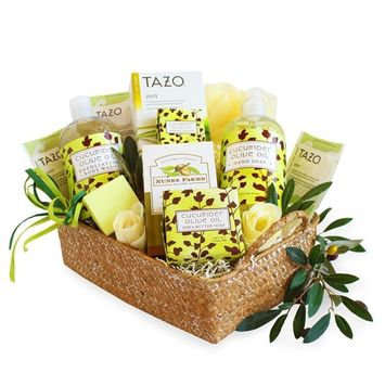 California Delicious Natural Cucumber and Olive Oil Spa Gift Set