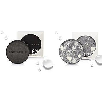 [April Skin] Signature Soap Set (Original+Black) : Beauty