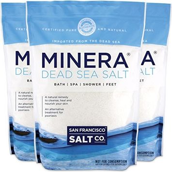Minera Dead Sea Salt 15 lb. (Qty 3 x 5 lb. Bags) Fine Grain 100% Pure & Certified. Natural Treatment For Psoriasis, Eczema, Acne & More
