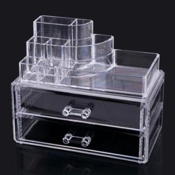 Acrylic Container Storage Cosmetics Makeup Organizer Clear Display OCTAP