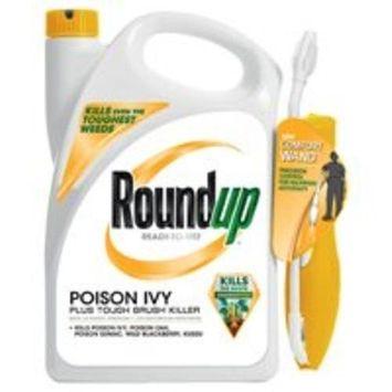 Roundup 5203980 Poison Ivy Plus Tough Brush Killer Ready-to-Use Comfort Wand Sprayer, 1.33-Gallon [Wand]