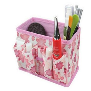 NOMENI Makeup Cosmetic Storage Box Bag Bright Organiser Foldable Container