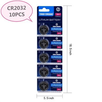 CHAO CHUANG CR2032 3V lithium Battery Electronic toy watch LED Specialty Battery (10-PACK)