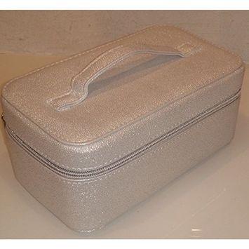 Bareminerals Large Cosmetic Travel Case Bag Shiny White