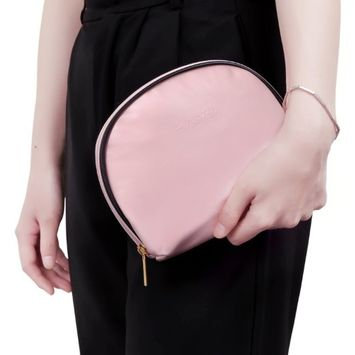 VASKER Small Makeup Bag for Purse Cosmetic Bag Pouch Pink VA-03 Best Gift