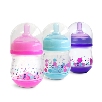 The First Years Gumdrop Wide Neck Bottle 3-Pack 4 oz Girl