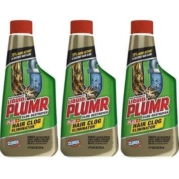 Liquid-Plumr Hair Clog Eliminator removes Tough Hair Clogs, 16 Ounces
