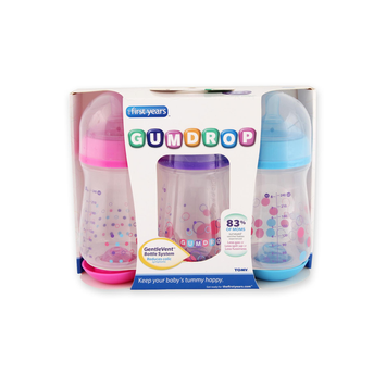 The First Years Gumdrop 240ml Anti Colic Bottle 3 Pack