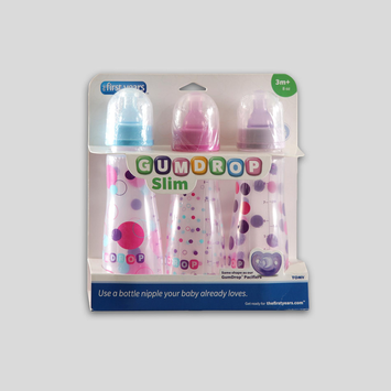 The First Years, Inc The First Years 3-Pack Slim GumDrop Baby Bottles