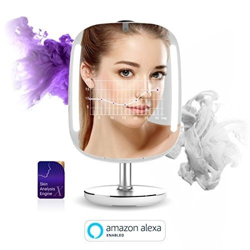 HiMirror Mini: Beauty smart mirror with LED makeup lights, makeup vanity Mirror with touch screen, your beauty consultant skin analyzer, magnifying mirror, innovative makeup mirror