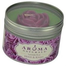 Serenity Aromatherapy By Serenity Aromatherapy One 6.5 Inch Tin Soy Aromatherapy Candle With Purple Daisy Flower. Combines The Essential Oils Of Lavender And Ylang Ylang To Enhance Inner Balance And Well-Being. Burns Approx. 40 Hrs.