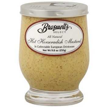 Braswell's Select Hot Horseradish Mustard, 9 oz, (Pack of 6)