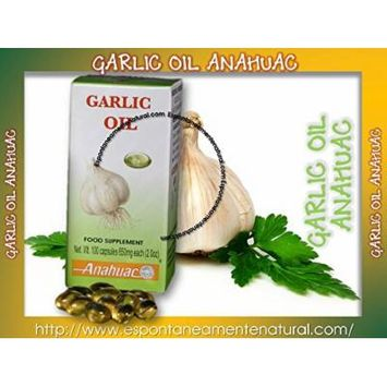 Aceite De Ajo Anahuac Garlic Oil Auxiliary Immune System, Cholesterol Cleansing the Blood Weight Loss Cardiovascular System and Antioxidant