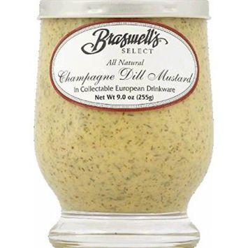 Braswell Mustard Chmpgn Grl Dl Hor 9 oz (Pack Of 6)