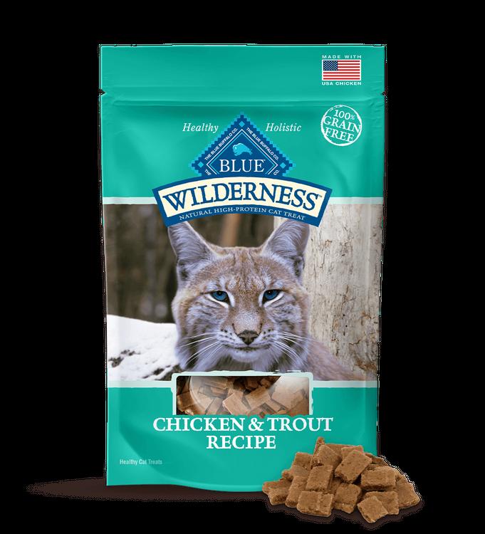 BLUE Wilderness Cat Treats Chicken & Trout