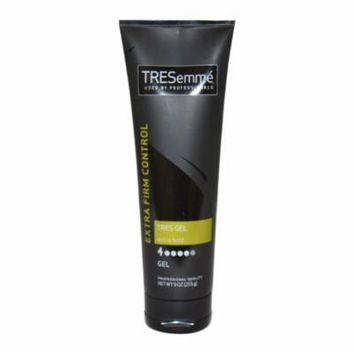 Tres Gel Extra Firm Control Extra Hold 4 by Tresemme for Unisex - 9 oz Gel