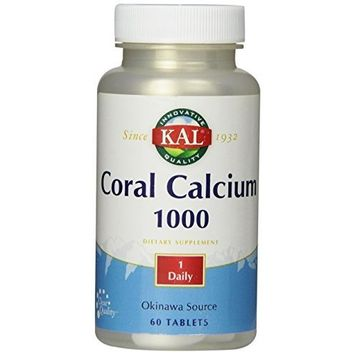 KAL Coral Calcium Tablets, 1000 mg, 60 Count