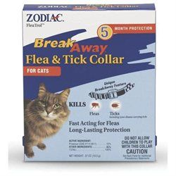 Farnam 43910 Zodiac Breakaway Flea and Tick Collar For Cat