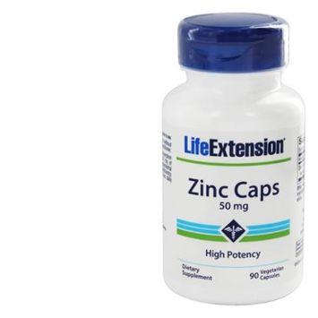Life Extension Zinc Caps 50 mg - 90 Vegetarian Capsules