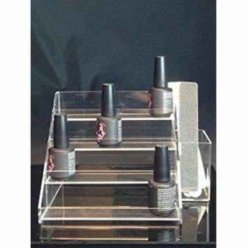 Beauticom 4 Tier Nail Polish Counter Display Rack with Extra Box Holder