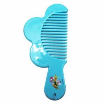 Disney Fairies Tinker Bell Light Blue Colored Mini Plastic Comb