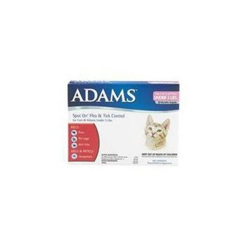 Adams Flea and Tick Spot on for Cats and Kittens with Smart Shield Applicator, 1-Month Supply