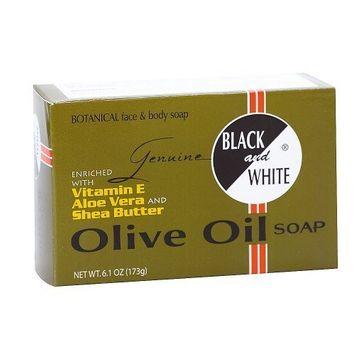 BLACK and WHITE Olive Oil Soap