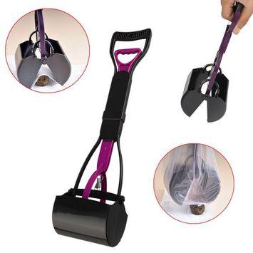Ergonomic Design Durable Plastic Dog Pooper Scooper Easy Scoop Animal Pet Waste Clean Pick Up Shovel Handle