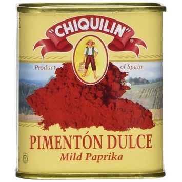 Chiquilin Mild Paprika Tin - Tin Can 75 grams (2 PACK) Gluten FREE