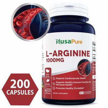 Best L-Arginine 1000 mg 200 capsules (NON-GMO & Gluten Free) Amino Acid Arginine HCL Supplements for Women & Man - Supports Circulation and Cardiovascular Health - 100% MONEY BACK GUARANTEE!