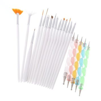 Yimart 20PCS Nail Art Design Dotting Painting Drawing Polish Brush Pen Tools [A]